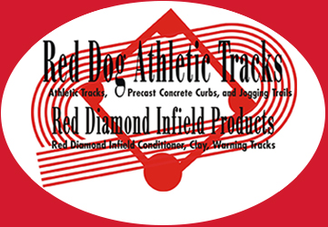 Red Dog Athletic Tracks and Red Diamond Infield Products
